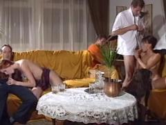 Three swinger couples arrange orgy