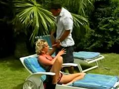 Lovely blonde assfucked on vacation