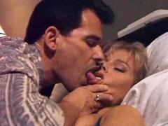 Pretty blond slutty improves sex skills at blowjob