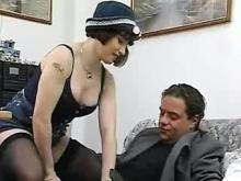 Lovely vintage babe gets deep fucked by hard cock