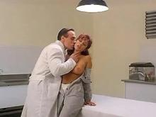 Kinky doctor making love with beautiful patient