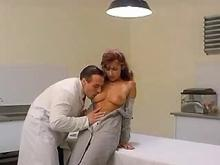 Lewd doctor screws cute trainee in consulting room