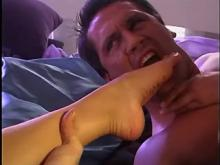 Two oversexed girlfriends fuck hunk and catch facial