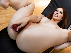 Naughty Annika and Melody play with anal toys.