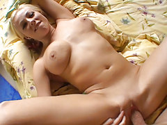 Nice Tits MILF Spreading Love-cage While She Benefits from Fucked Intense
