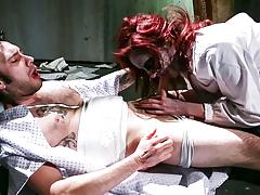 Tommy Pistol gets a blowjob from appealing zombie Phoenix Askani.