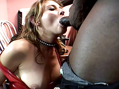 Two Horny Sluts Getting GangBanged &By Black Fellow At The End