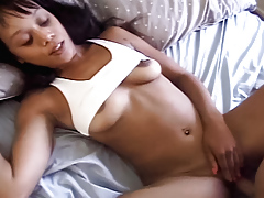 Ebony cock slut's ready for her hardcore interracial very