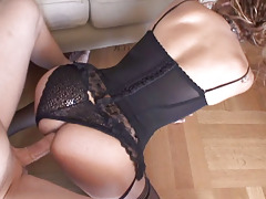Tranny In Hot Black Lingerie Keen to 2 Get Fucked Hard & Fast!
