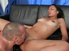 Latina With Black Hair Rides A Big Schlong & Gets Fucked Nicely