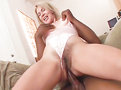 Sexy Erica Lauren picks up black male then humps his cock.