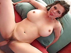 Hairy milf fuck and suck a immense penis in bedroom. POV shoot.