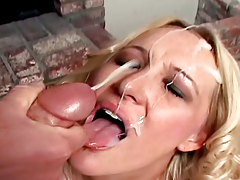 Peter North gets his cock deep throated by top shelf blond