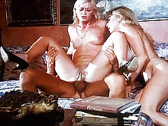 2 lustful blondes prepared to suck Rocco's big snake together!