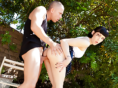 Asphyxia Noir hooks up with Mick Blue & has her bawdy cleft drilled
