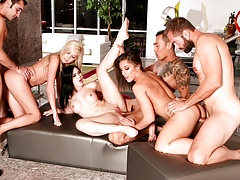 couples share in a no holes barred very extravaganza!