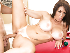 Hot Charlee takes rough cock balls deep in her pussy.