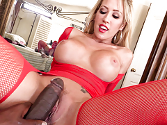 Appealing Capri rides Lex's huge cock in her firm hole.