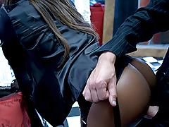 Hot Ebony Angel Getting Her Beautiful Butt A Huge & Hard Ramrod