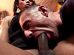 She acquires him there with her show and sucks him hard behind.