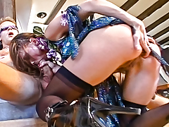 Wild slut creeps wax on Rocco, then attains bonked in the ass!