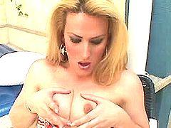 Beautiful blond TS anal