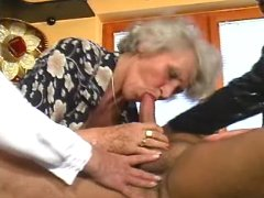 Grannies play with dick