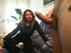 Mom is happy to ride dick