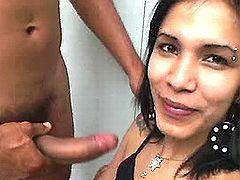 Indian tranny adores oral
