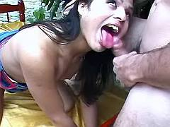 Fun loving ts seduces guy