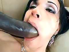 Ts plays with big dildo