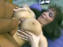 Milf with huge boobs titfucks