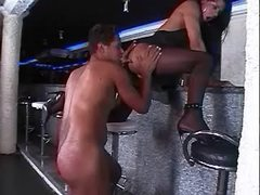 Guy fucked by tgal in bar