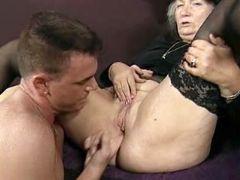 Old fart enjoys erect rod