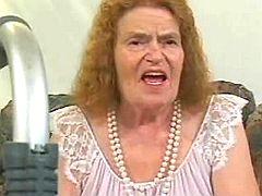 Granny goes wild on floor