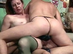 Aged women in kinky orgy