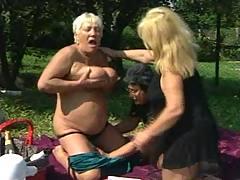 Drunk grandmas on picnic