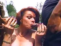 Men share vulgar mature