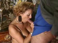 Sexy retired secretary seduces boss