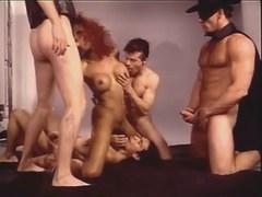 Zorro w friends fuck tranny in orgy