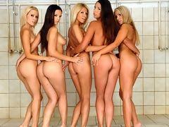 Six stunning lesbian chicks enjoying pussy