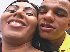 Lustful shemale gives oral pleasure