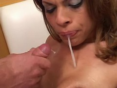 Tranny n chap suck cocks each other