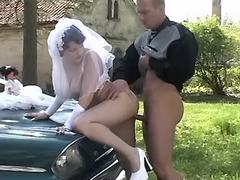 Beautiful fiancee fucks with driver
