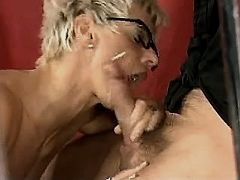 Mom gets cum after sex in all holes