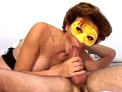 Masked mom in sex adventure with handsome stranger