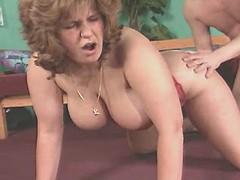 Mature breasty fat mom fucked hard in studio