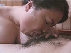 Enormous Asian vixen enjoys perfect blowjob