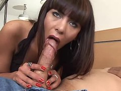 Tgirl n guy give blowjob each other
