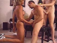 Group sex with TS whores on a party